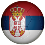 Serbia Football Flag 58mm Button Badge